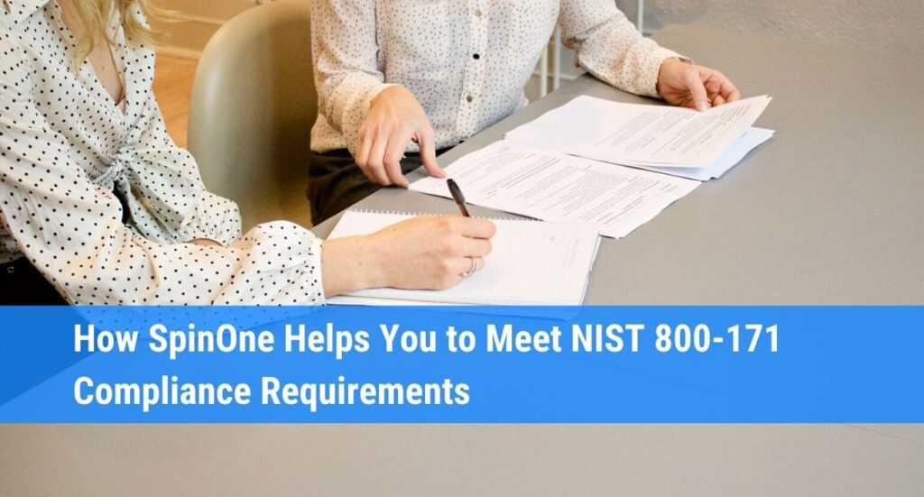 How SpinOne Helps NIST 800-171 Compliance Requirements