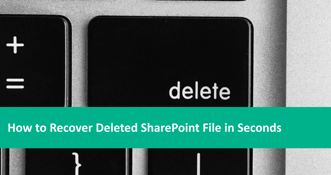 How to Recover Deleted sharePoint File in Seconds