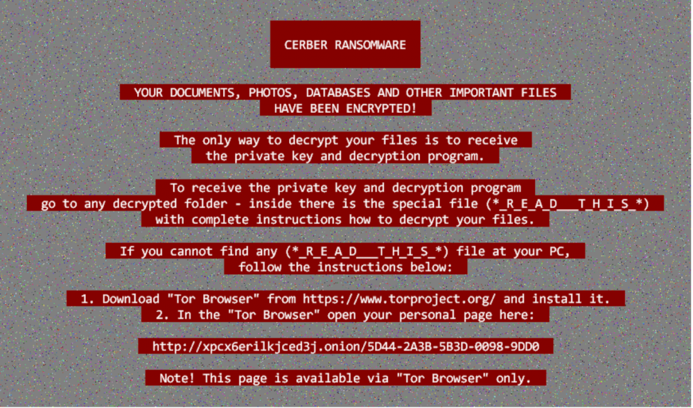 cerber ransomware note