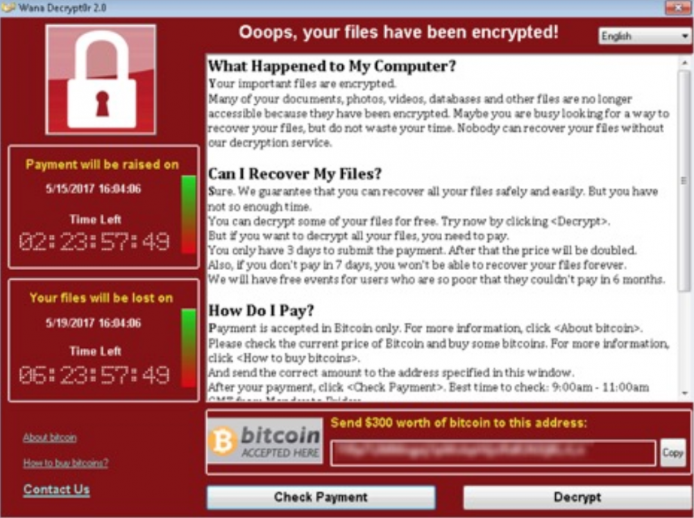 wannacry ransomware note